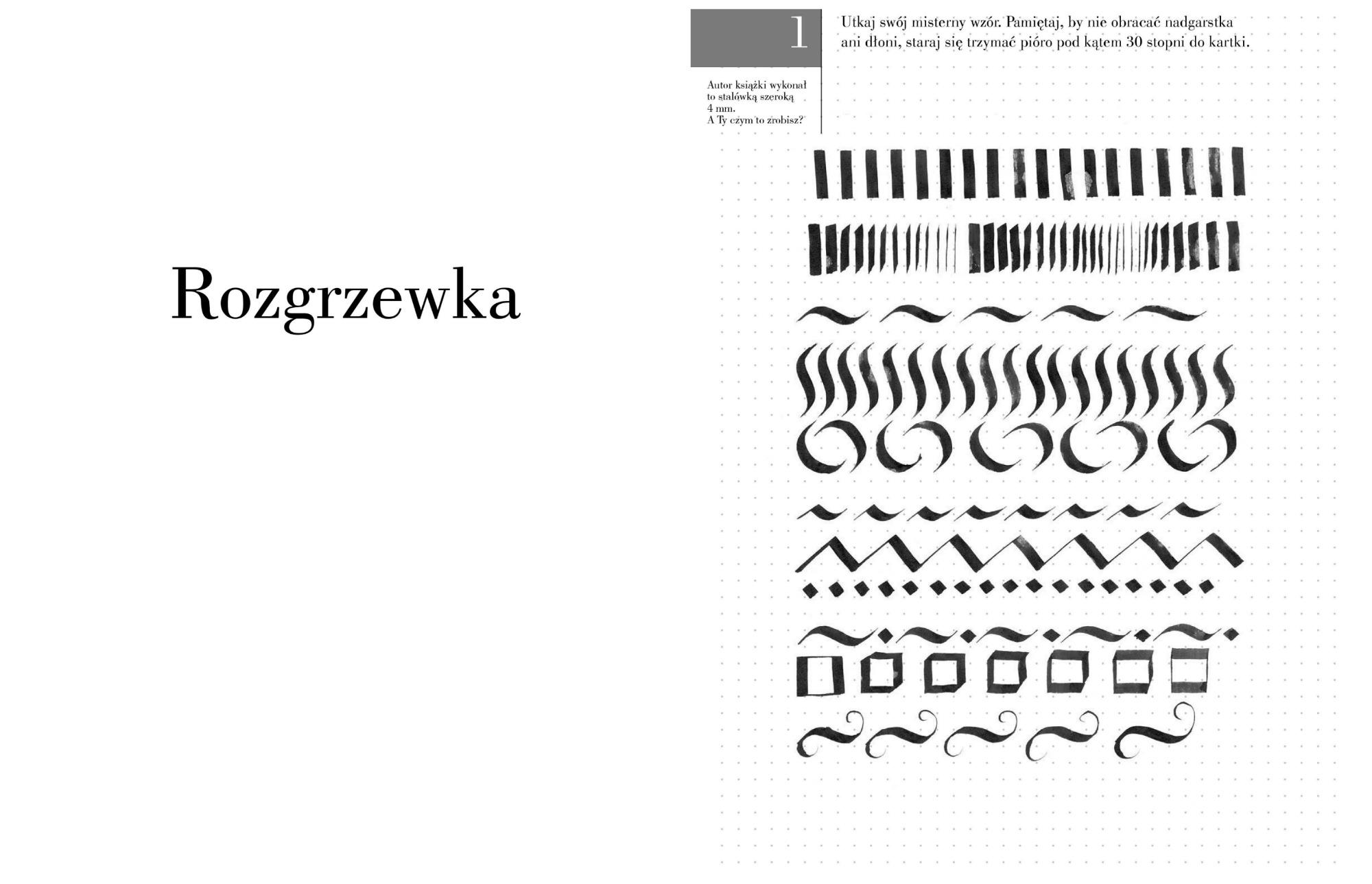 Fragment książki Grzegorza Barasińskiego 'Kaligrafia' (fot. materiały prasowe)