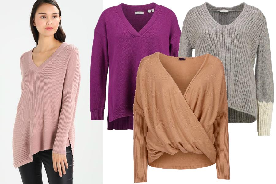 Sweter - szerokie ramiona / kolaż redakcja, materiały partnerów