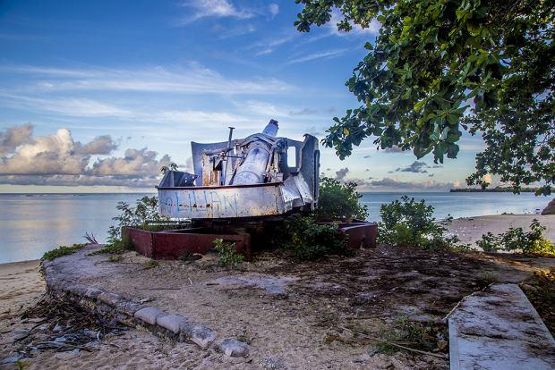 Czołg z okresu II wojny światowej na Kiribati