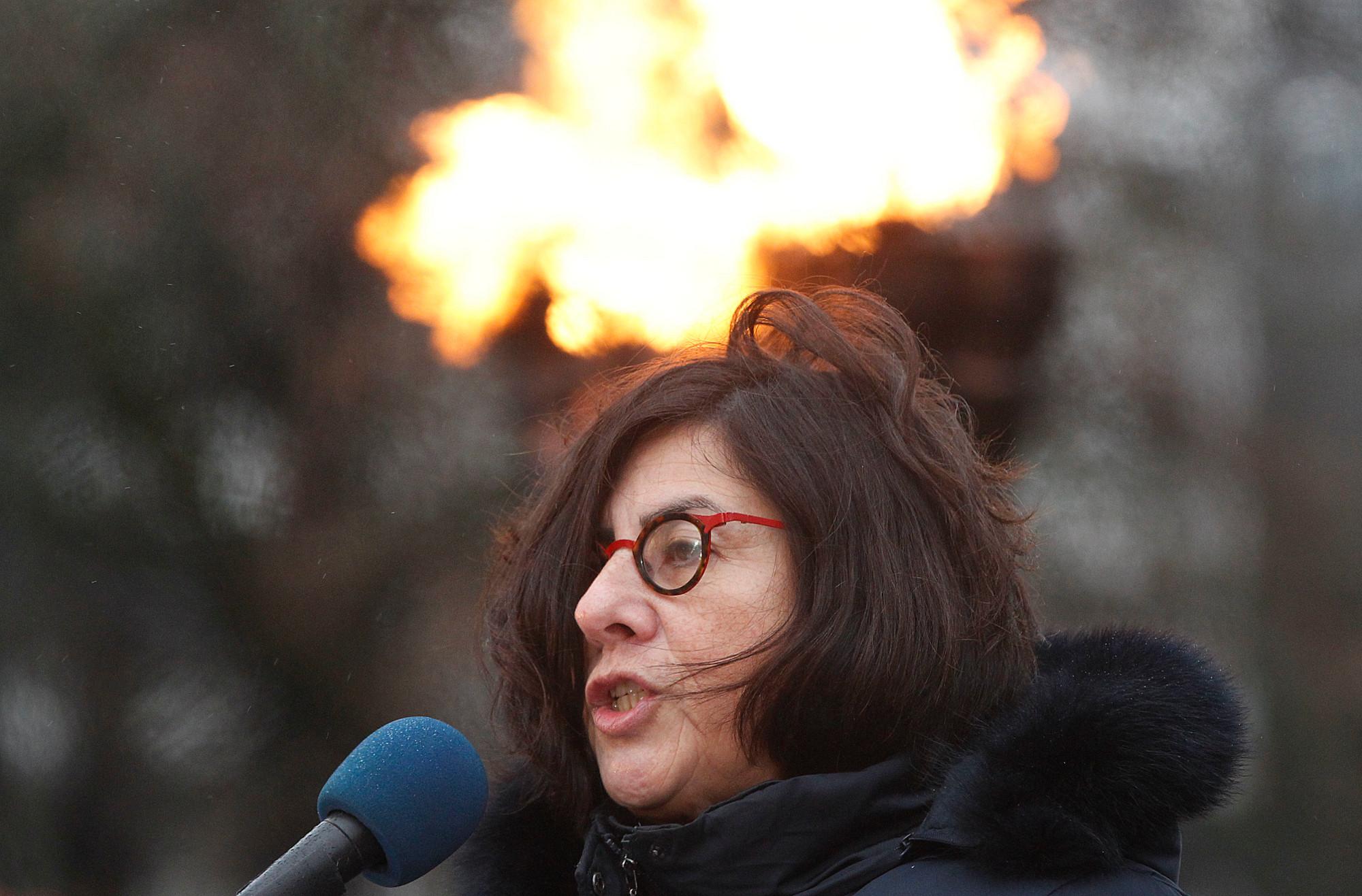 Ambasador Izraela w Polsce, Anna Azari, podczas obchodów 13. Międzynarodowego Dnia Pamięci o Ofiarach Holocaustu (fot. AP Photo / Czarek Sokołowski)