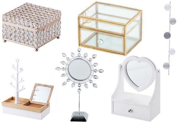 dodatki, akcesoria, toaletka, szkatułka, lustro