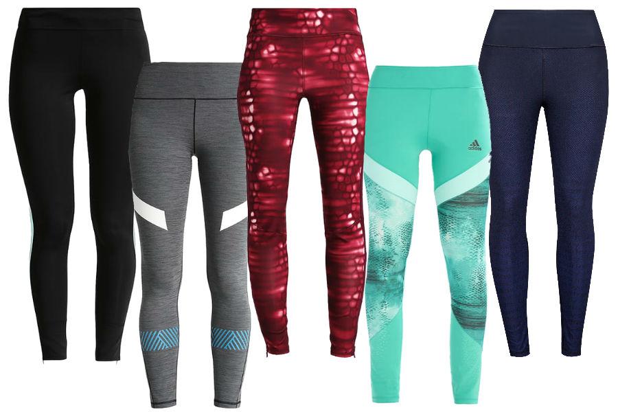 Kolaż / Legginsy sportowe Adidas z wyprzedaży / Materiały partnera
