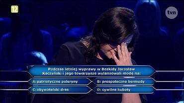 Pani Agnieszka usłyszała w ''Milionerach'' pytanie o Kaczyńskiego. I to był koniec