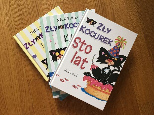 Historie o Złym Kocurku spodobają się najmłodszym czytelnikom.
