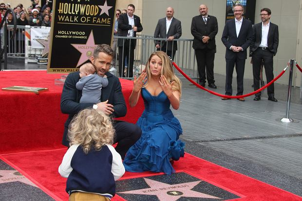 n12/15/2016 - Ryan Reynolds, Blake Lively, James Reynolds - Ryan Reynolds Honored with a Star on the Hollywood Walk of Fame - Hollywood Walk of Fame - Hollywood, CA, USA - Keywords: Horizontal, American actress, woman, baby, child, children, infant, Canadian actor, producer, man, honor, film industry, movie, television, red carpet event, Ceremony, Person, People, Celebrity, Celebrities, WOF, HWOF, Photography, Photograph, Candid, Respect, Arts Culture and Entertainment, Attending, Topix, Bestof, Los Angeles, California Orientation: Landscape - False - Photo Credit: PRPhotos.com - Contact (1-866-551-7827) - Landscape