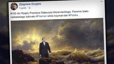 Morawiecki otrzymał laurkę, jakiej by się nie powstydził Kim Dzong Un. To gratulacje z okazji stu dni jego rządów