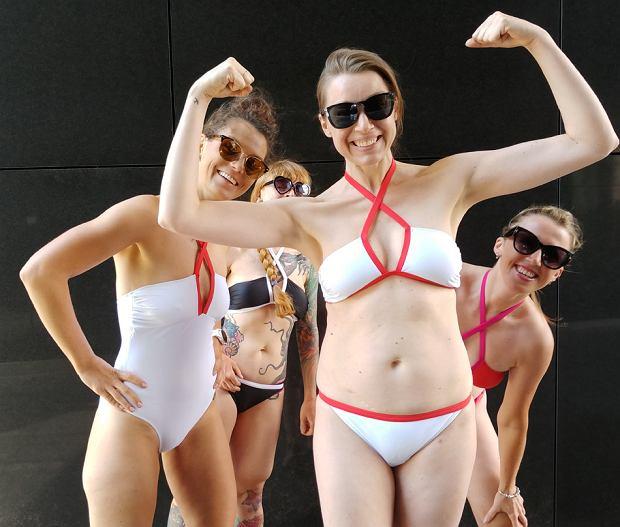 Od lewej: Malwina, Kamila, Ola i Sylwia w kostiumach Brigitte od Mission Swim