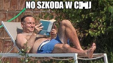 W Polsce gorąco, szczególnie wieczorami. Andrzej Duda wyjechał więc nad morze [MEMY]