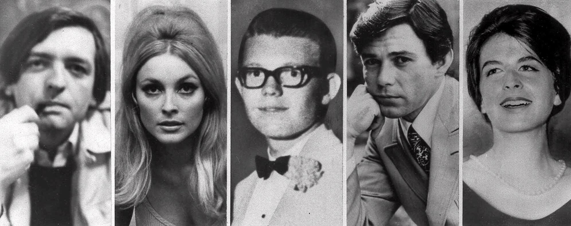 Pięć ofiar tragicznej nocy z 8 na 9 sierpnia 1969 r. Od lewej: Wojciech Frykowski, Sharon Tate, Steve Parent, Jay Sebring i Abigail Folger (fot. Eeastnews)