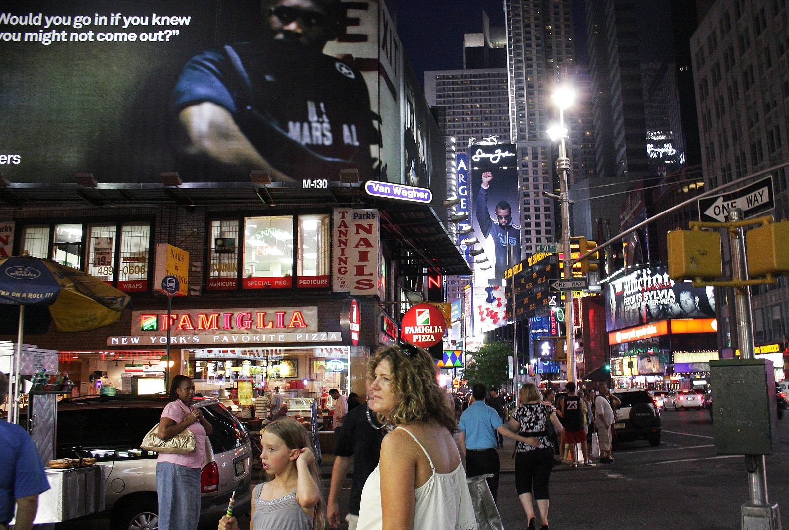 y29.06.2008 USA , NOWY JORK , MANHATTAN , PLAC TIMES SQUARE NOCA , REKLAMY , NEONYFOT. FRANCISZEK MAZUR / AGENCJA GAZETA