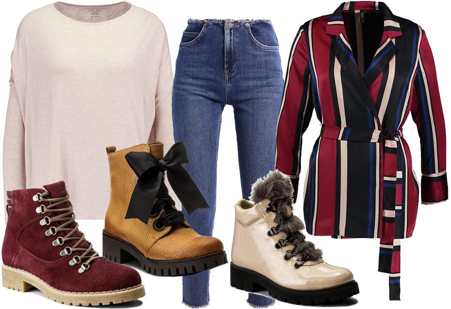 Trapery - stylizacja ze spodniami