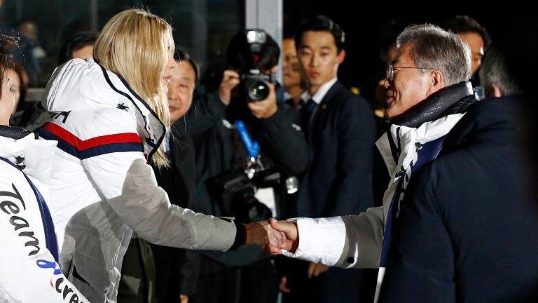 Na ceremonii igrzysk pojawiła się nawet córka, oraz doradczyni, Donalda Trumpa