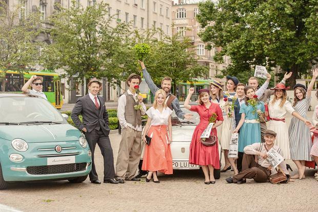 Przywitanie Fiata 500 Anniversario w Poznaniu  Fot. Materiały Partnera