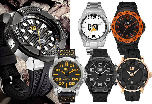 zegarek CAT, pinterest, kolaż