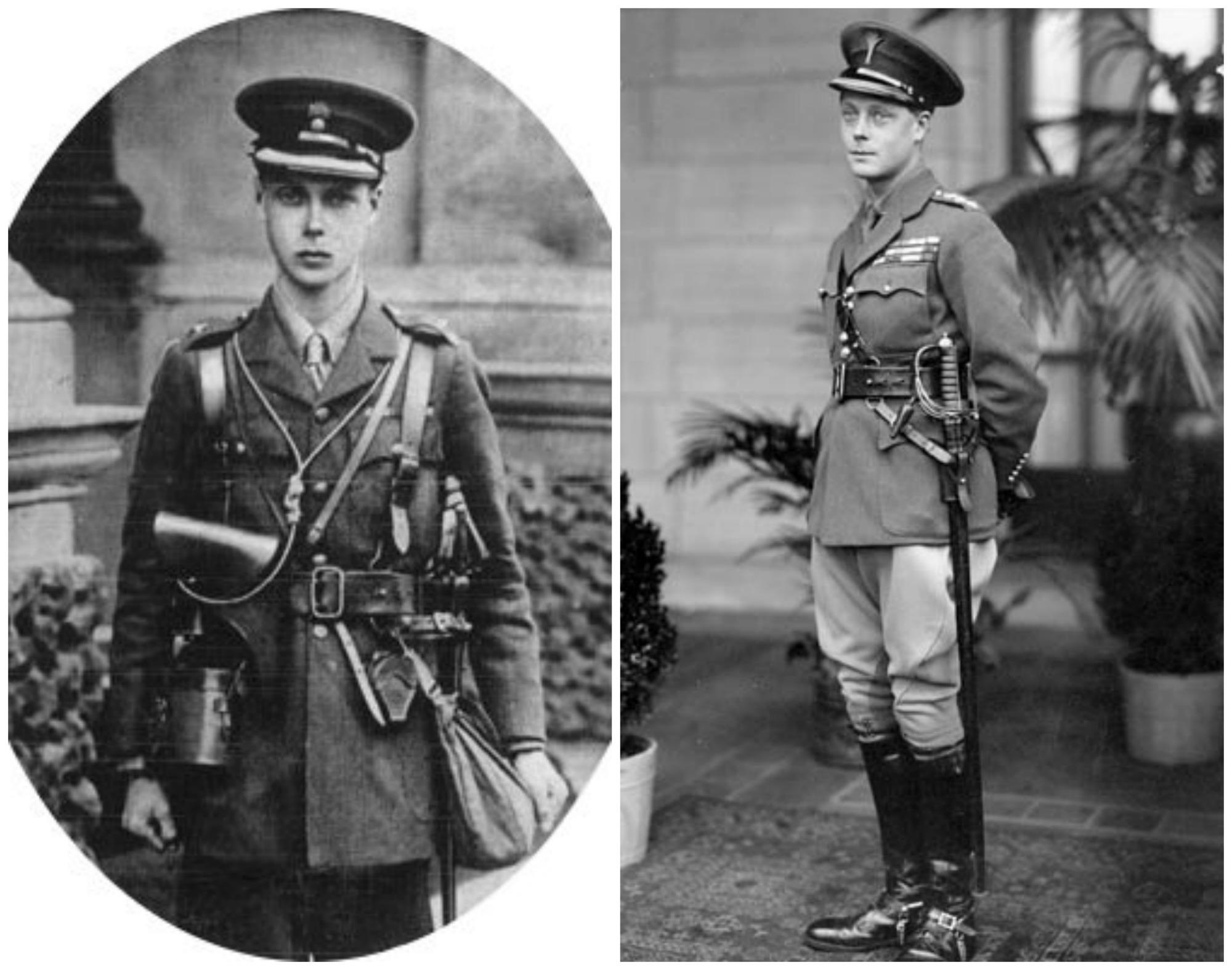 Edward, książę Walii w 1915 (z lewej) i 1919 r. (z prawej) (fot. Wikimedia.org / Domena publiczna)