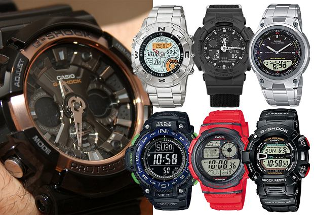 zegarek Casio, pinterest, kolaż