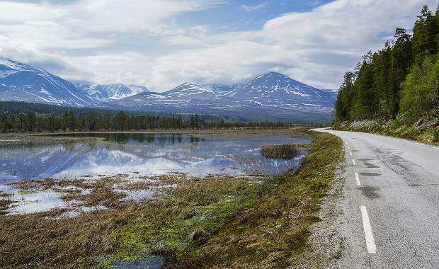 Panorama na trasie Rondane