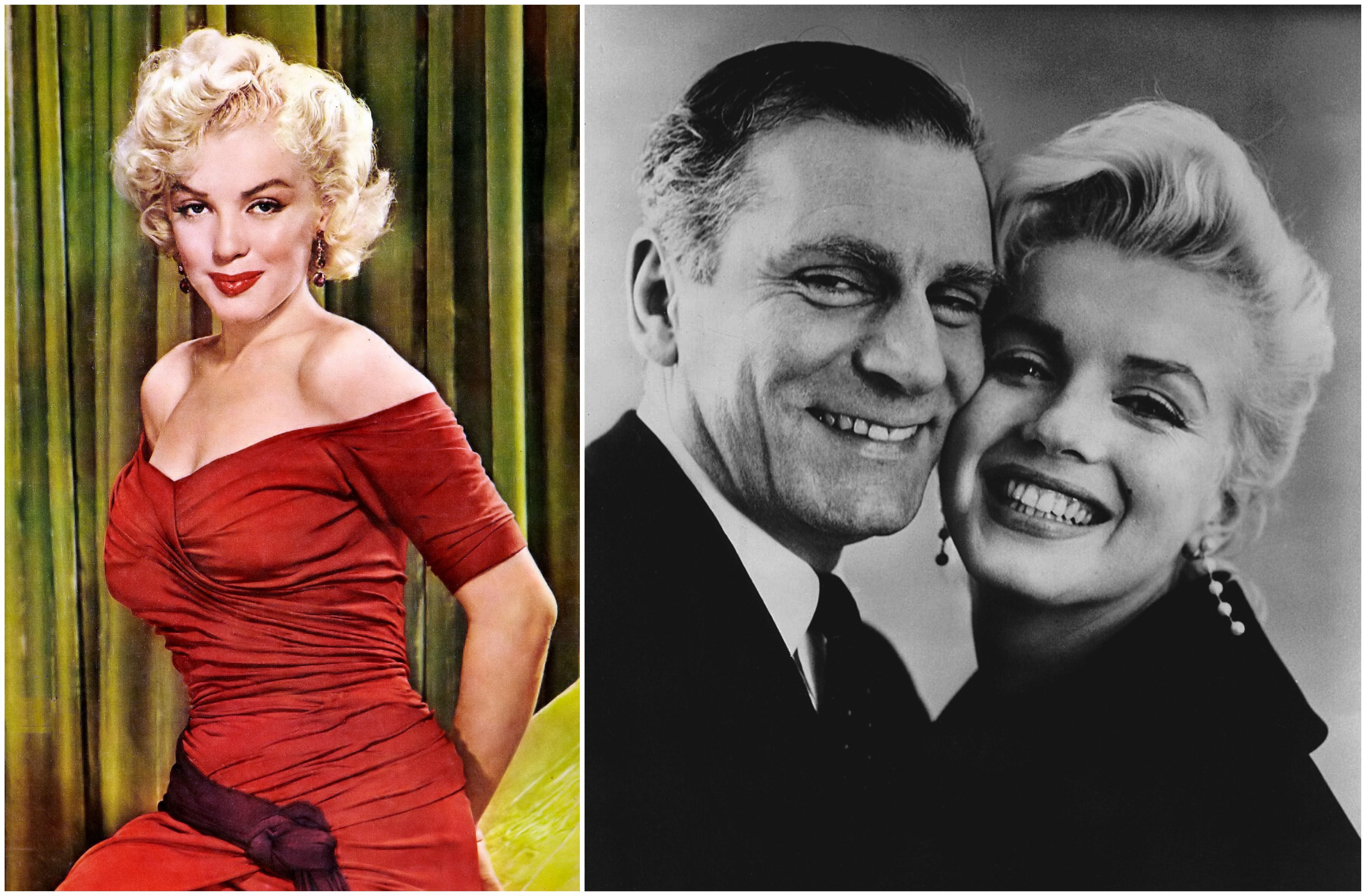 Po lewej zdjęcie Monroe umieszczone na okładce 'New York Sunday News' w 1952 r. Po prawej aktorka i Laurence Olivier w 1957 r. (fot. New York Sunday News / Wikimedia.org / Domena publiczna / Warner Bros. Pictures / Wikimedia.org / Domena publiczna)