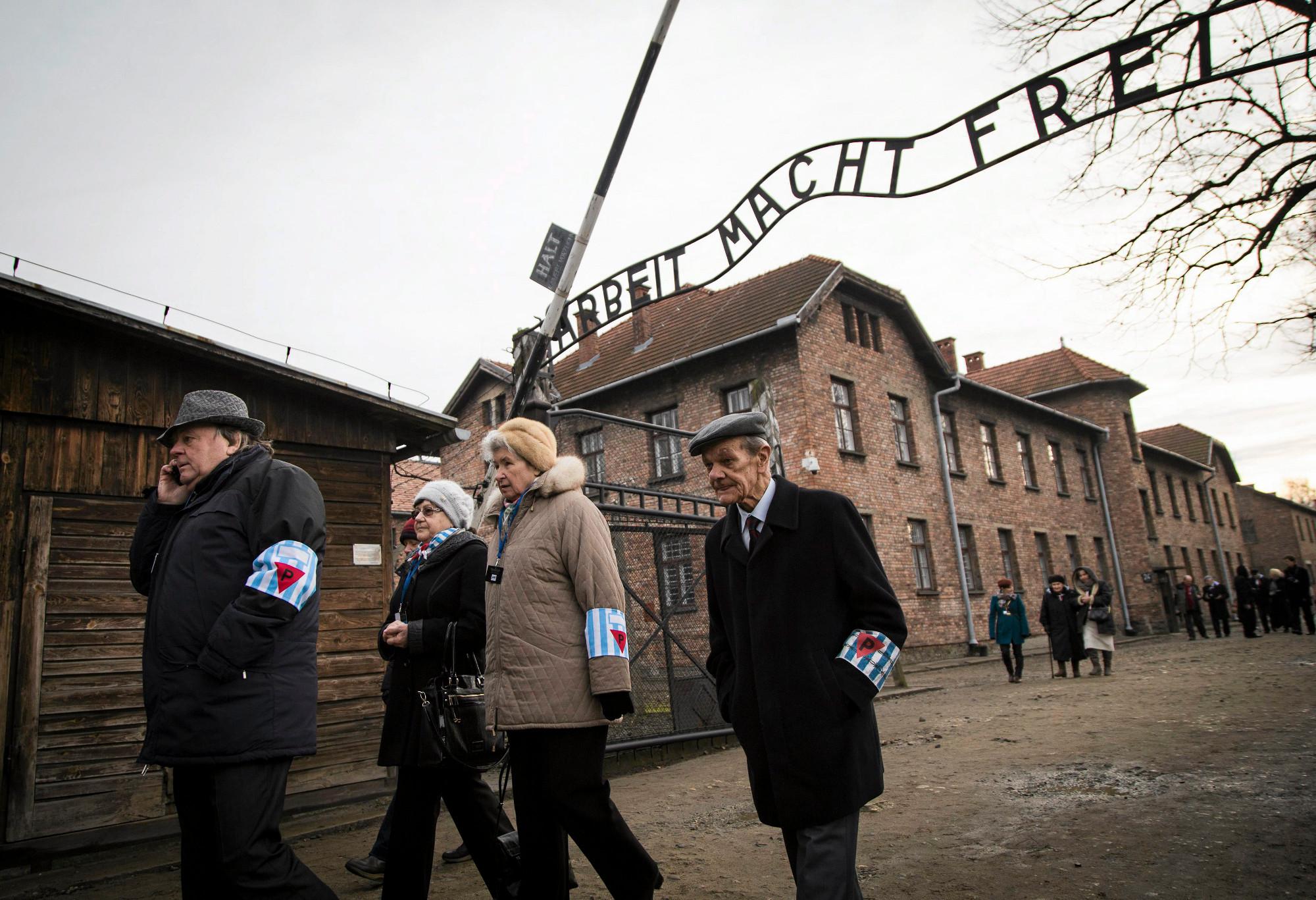 71. rocznica wyzwolenia obozu zagłady KL Auschwitz, styczeń 2016 r. (fot. Michał Łepecki / Agencja Gazeta)