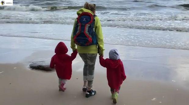Anna Guzik z dziećmi