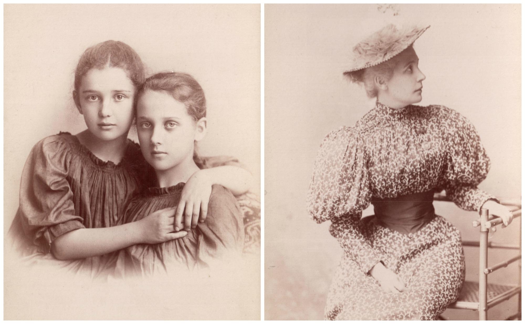 Z lewej kolejno Zofia i Maria Pareńskie, 1896 r. Z prawej Eliza Pareńska (fot. archiwum Ewy Modzelewskiej / zdjęcie pochodzi z książki Moniki Śliwińskiej ''Muzy młodej Polski'')