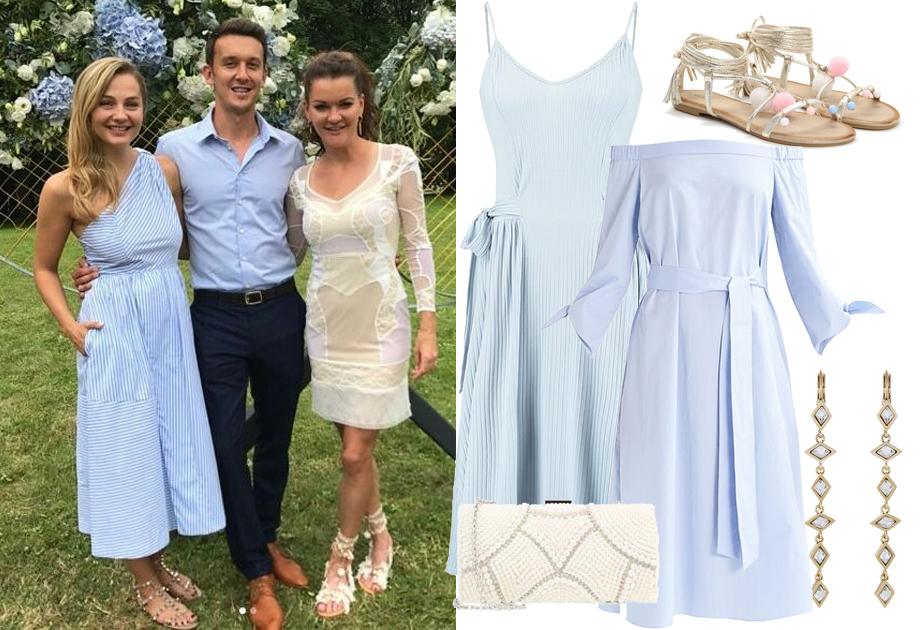 Małgorzata Socha w niebieskiej sukience