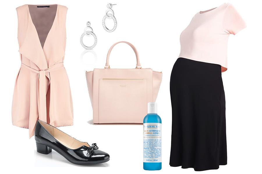 Stylizacja do pracy z sukienką ciążową (kolaż redakcja /materiały partnerów)