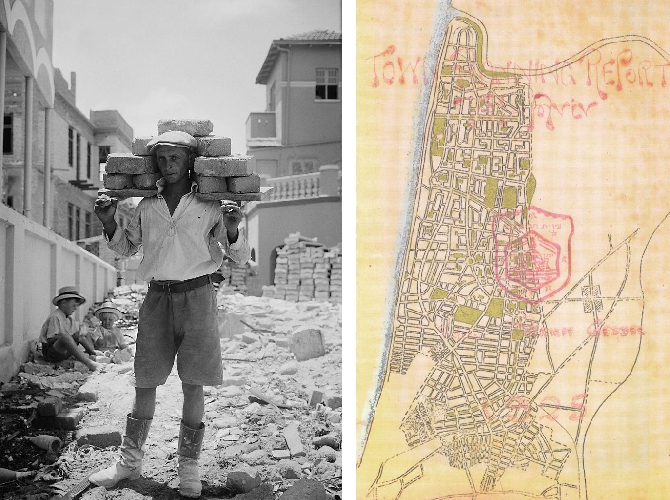 Å»ydowski pionier podczas budowy Tel Awiwu i plan Patricka Geddesa (fot. autor nieznany / wikimedia.org / domena publiczna)
