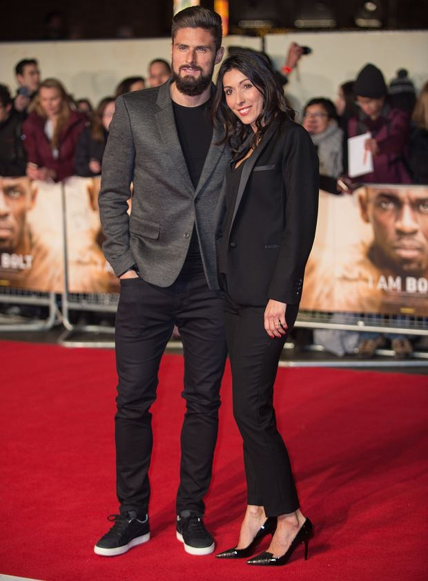R11/28/2016 - Olivier Giroud and Jennifer Giroud - I Am Bolt' World Premiere - Arrivals - Odeon Leicester Square - London, UK - Keywords: Vertical, Sport, Usain Bolt Biography, the fastest man in history, runner, running, Arrival, Red Carpet Event, Portrait, Photography, Arts Culture and Entertainment, Attending, Celebrities, Celebrity, Person, People, Topix, Bestof, 'I Am Bolt' UK Premiere Arrivals, England, United Kingdom, Britain, Ref:LMK386-62310-291116 Orientation: Portrait Face Count: 1 - False - Photo Credit: Landmark / PR Photos - Contact (1-866-551-7827) - Portrait Face Count: 1
