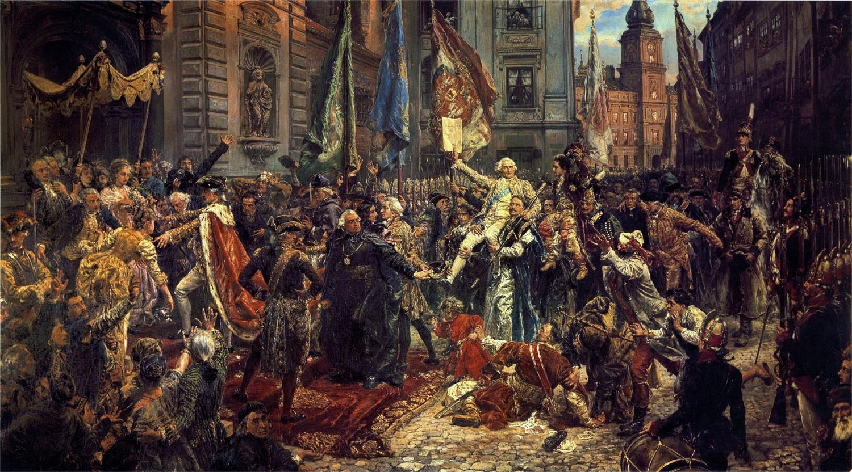Dziedziczną monarchię w Królestwie Polskim przywracała Ustawa Rządowa z dnia 3 maja, znana lepiej jako Konstytucja 3 maja (fot. commons.wikimedia.org)