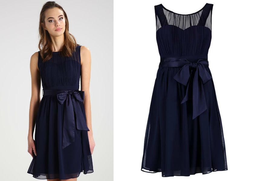 eb0d628257 Granatowa sukienka na różne okazje - jedna sukienka i trzy stylizacje