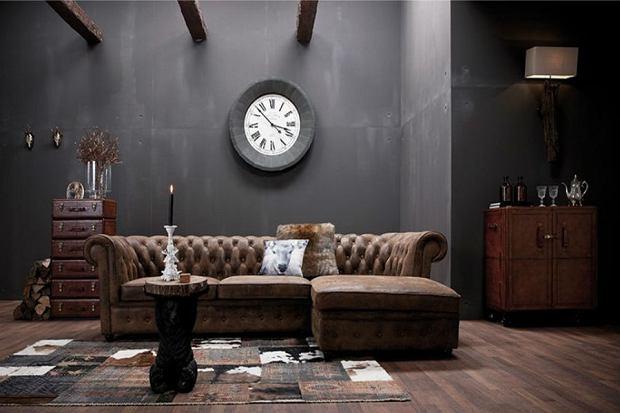 dodatki, mieszkanie, wnętrze, zegar