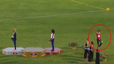 Skandal w trakcie Mistrzostw Europy. Złota medalistka zeszła z podium podczas hymnu