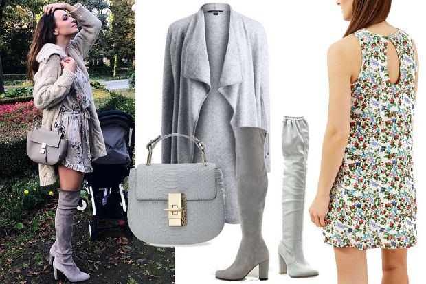 b7f52feff6 Instagram  aniawendzikowska  modna sukienka w kwiaty i kozaki za kolano