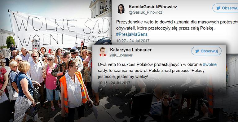 Reakcje na weto prezydenta. Opozycja świętuje, PiS zamilkł. Kaczyński: Bez komentarza
