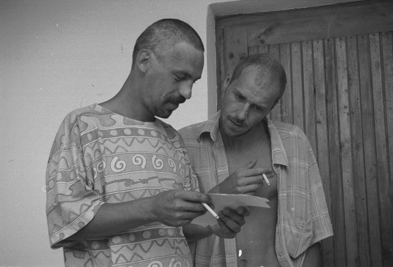 Majdan Kozłowiecki koło Lubartowa. Członkowie sekty Niebo (fot. Wojtek Jargilo / Agencja Gazeta)
