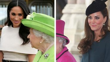 Porównali wyjścia Kate i Meghan u boku królowej. Żona Williama wygrywa