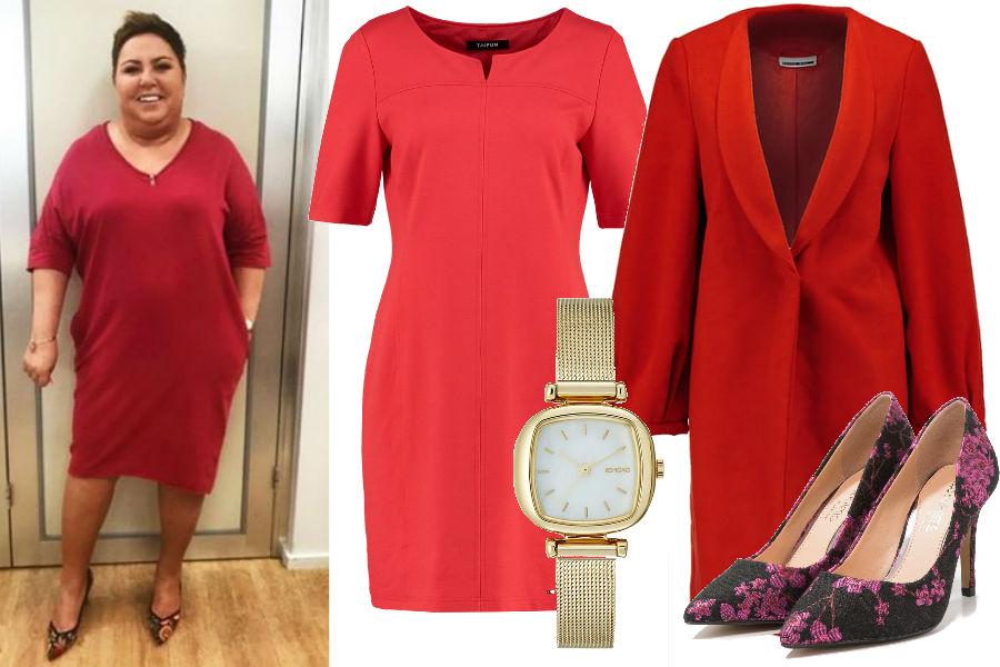 229d3d2f27 Dorota Wellman w czerwonej sukience. To fason idealny dla sylwetki ...