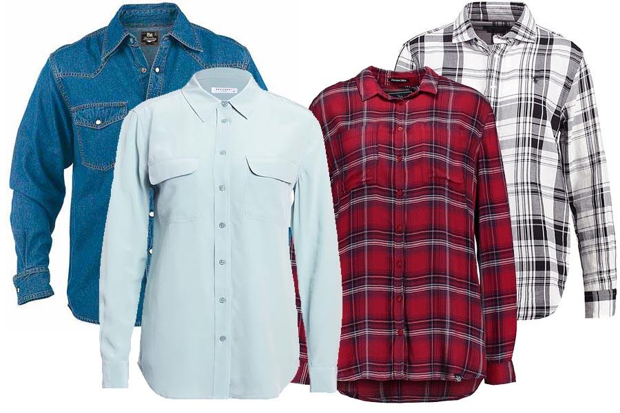 Krok drugi: koszula, bluzka z długim rękawem